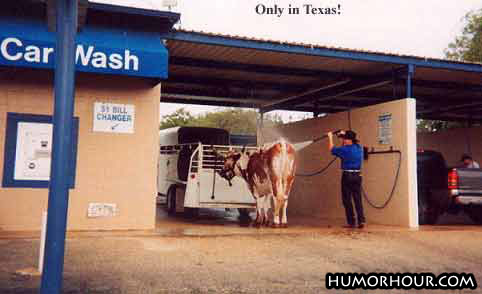 A Car wash in Texas