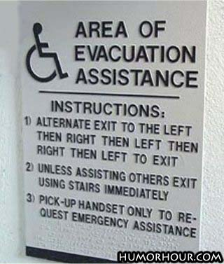Area of evacuation assistance