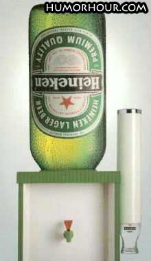 Heineken instead of water!