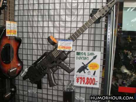 Machine gun guitar