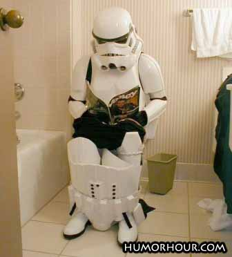 Starwars geek on toilet