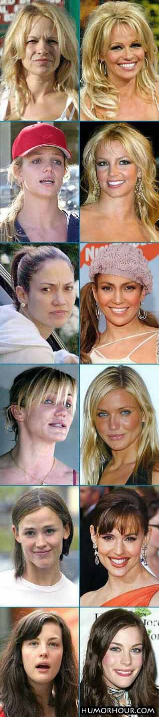 Celebs without make-up