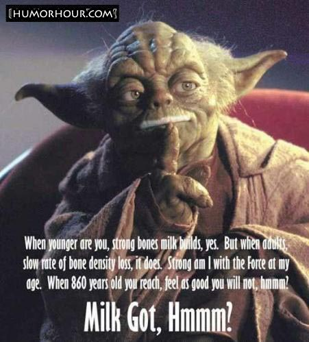 Milk ad featuring Yoda