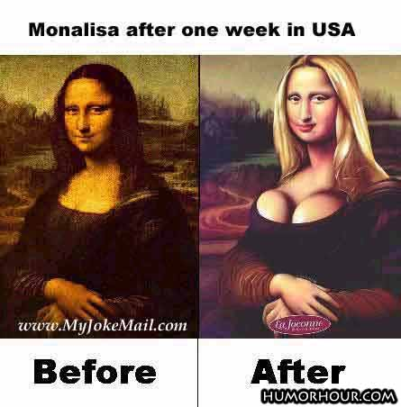 Mona Lisa after one week in USA
